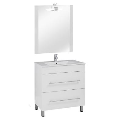80 FP szekrény+ mosdóval Magasfényű fehér fronttal