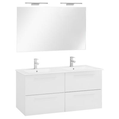 120 FPF mosdó + szekrény + tükör + LED-es lámpa