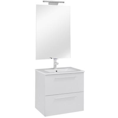 60 FPF mosdó + szekrény + tükör + LED-es lámpa