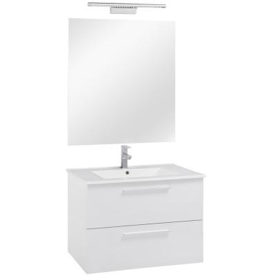 80 FPF mosdó + szekrény + tükör + LED-es lámpa