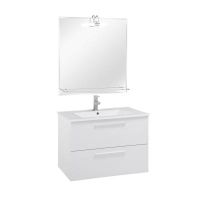 80 FPF szekrény+mosdóval Magasfényű fehér fronttal
